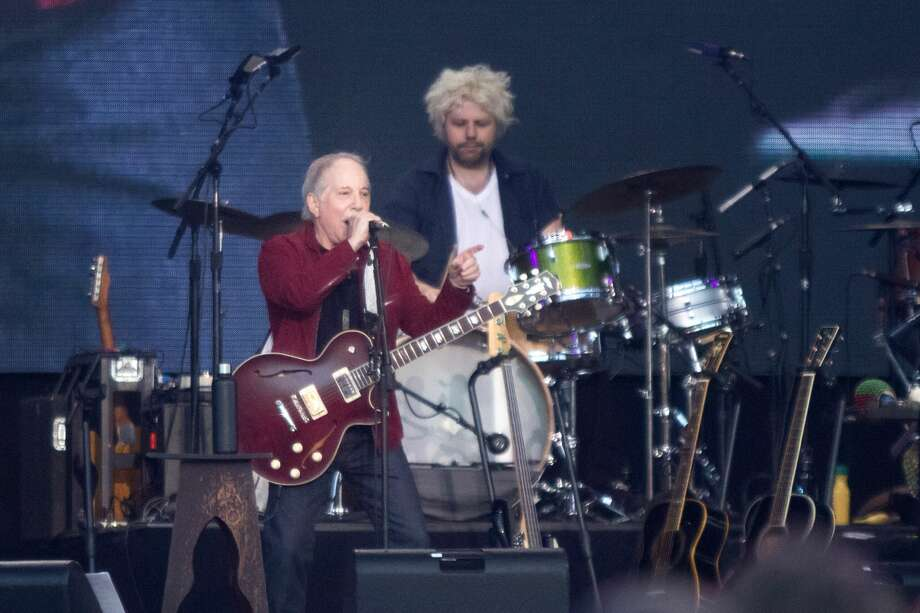 Paul Simon performs at the 2019 Outside Lands in Golden Gate Park in San Francisco, Calif. on August 11, 2019. Photo: Douglas Zimmerman/SFGate.com