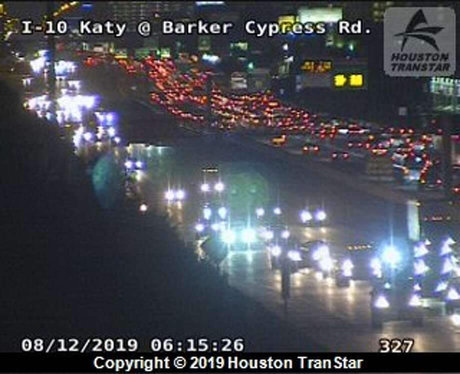 Houston police are responding to a major crash at the 18200 block of Katy Freeway at Barker Cypress Road. Photo: Houston TranStar