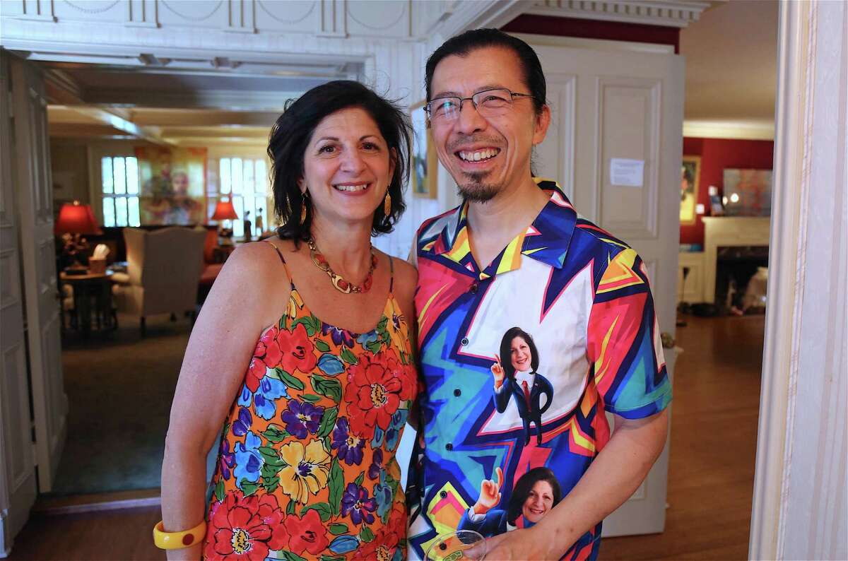 Couple and nonprofit co-founders Jeanine Esposito and Frederic Chiu at their 8th Annual Beechwood Open on Sunday, Aug. 11, 2019, in Westport, Conn.