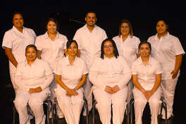Shown seated are, from left, Christella Reyna of Olton; Toni Cordova of Plainview; Clarissa Denise Hernandez of Plainview; and Anissa Adelina Guerrero of Lockney. Shown standing are, from left, Cynthia Luna of Plainview; Jordan Nichole Valadez of Plainview; Josh Mata of Plainview; Gracie Cervantes of Lockney; and Crystal Lynn Vasquez of Lockney.