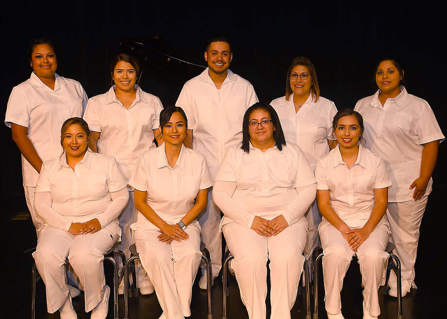 Shown seated are, from left, Christella Reyna of Olton; Toni Cordova of Plainview; Clarissa Denise Hernandez of Plainview; and Anissa Adelina Guerrero of Lockney. Shown standing are, from left, Cynthia Luna of Plainview; Jordan Nichole Valadez of Plainview; Josh Mata of Plainview; Gracie Cervantes of Lockney; and Crystal Lynn Vasquez of Lockney. Photo: Wes Underwood/SPC