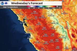 Warmer temperatures are expected this week, with parts of the Bay Area nearing 100 degrees by Wednesday afternoon.