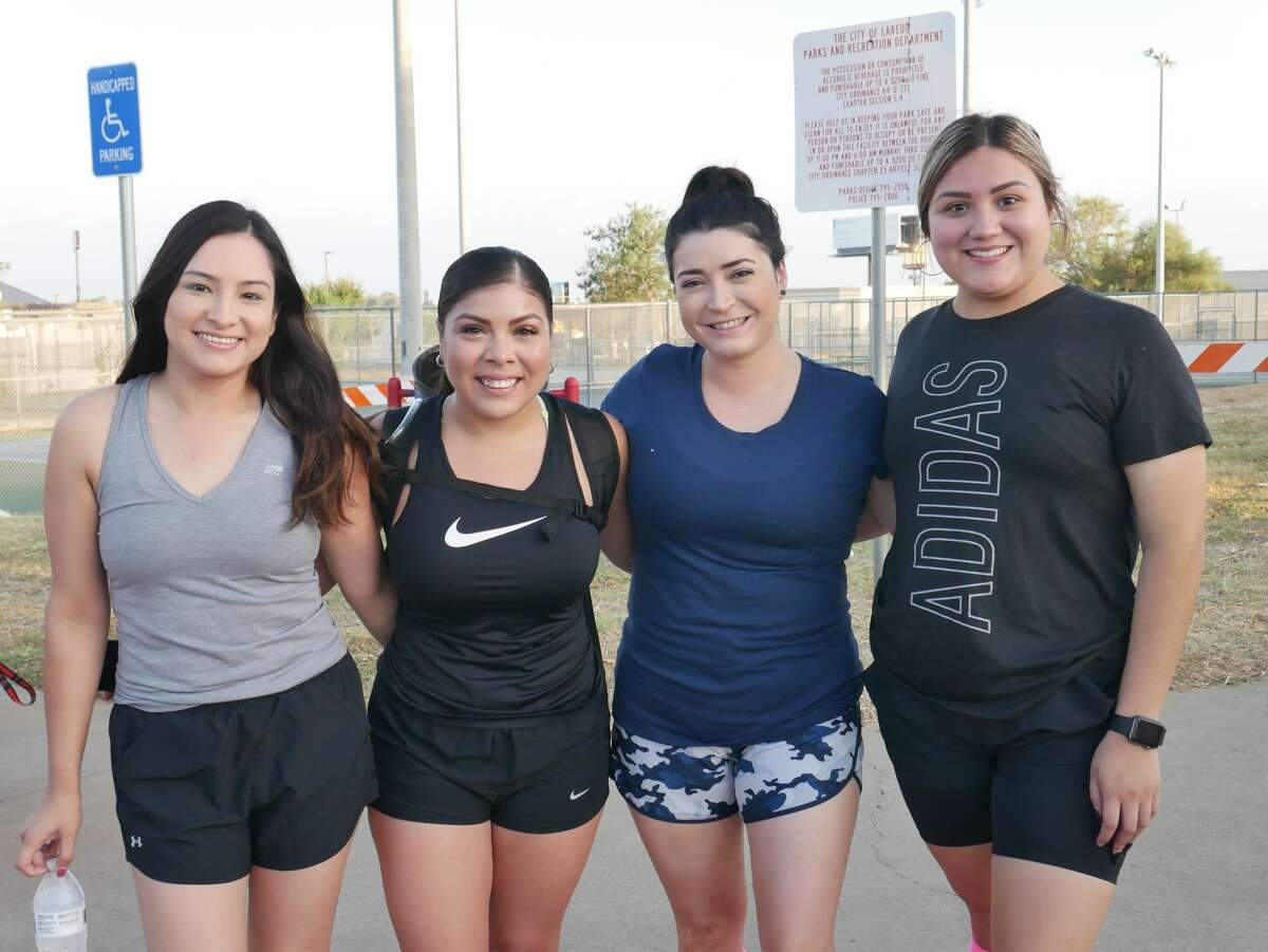 Laredo locals pose for pictures and participate in the first Bull-Run Biathlon & Dry/Mud Obstacle Course at Freddy Benavides Park.