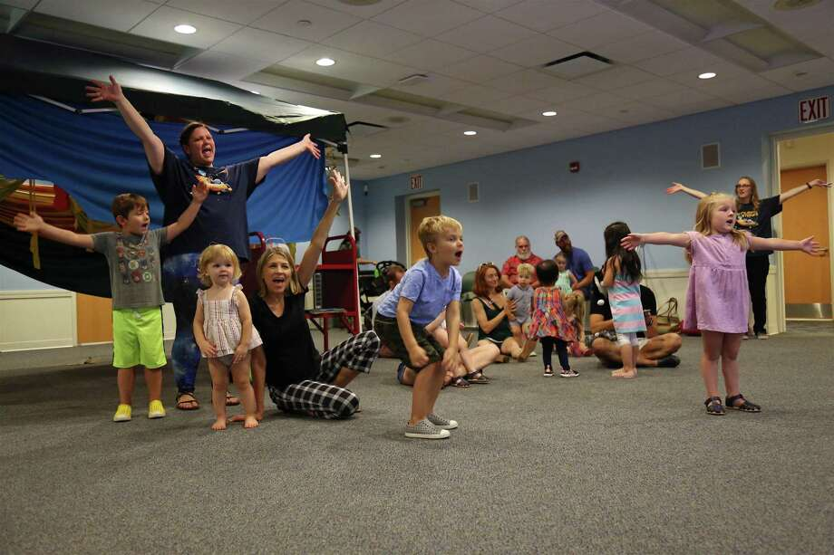 Spirits were high at the Fairfield Library's Twinkle Tots Star Party for the summer reading challenge finale on Saturday, Aug. 10, 2019, in Fairfield, Conn. Photo: Jarret Liotta / Jarret Liotta / ©Jarret Liotta
