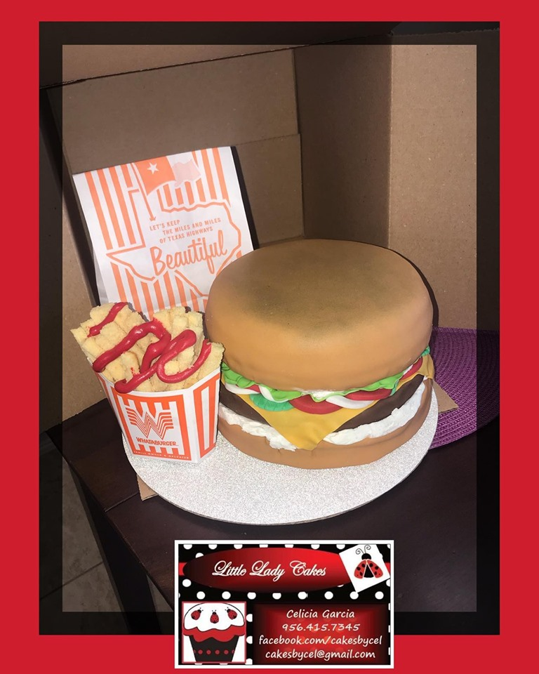 South Texas baker makes burger lover's birthday wishes come true with Whataburger creation