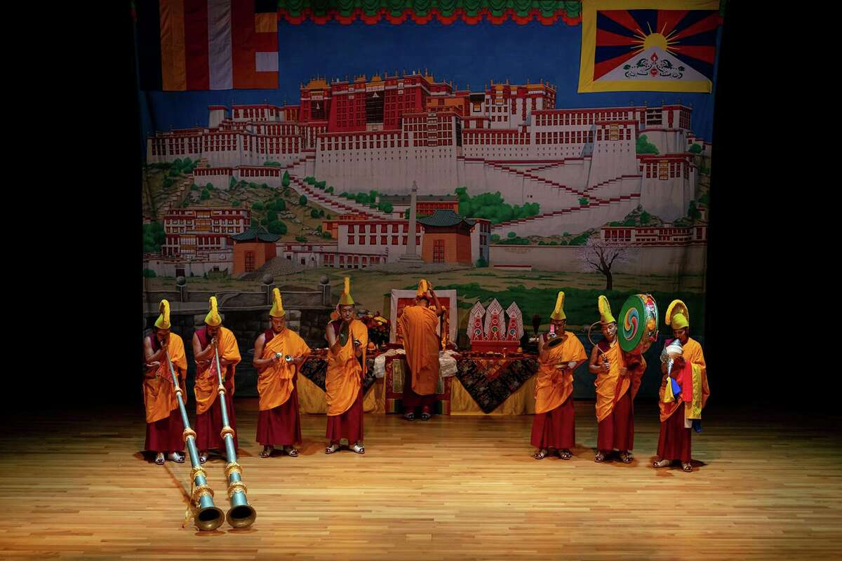 Tibetan Buddhist monks from the Drepung Loseling Monastery in southern India will appear at the Asia Society Texas Center beginning Aug. 14, 2019