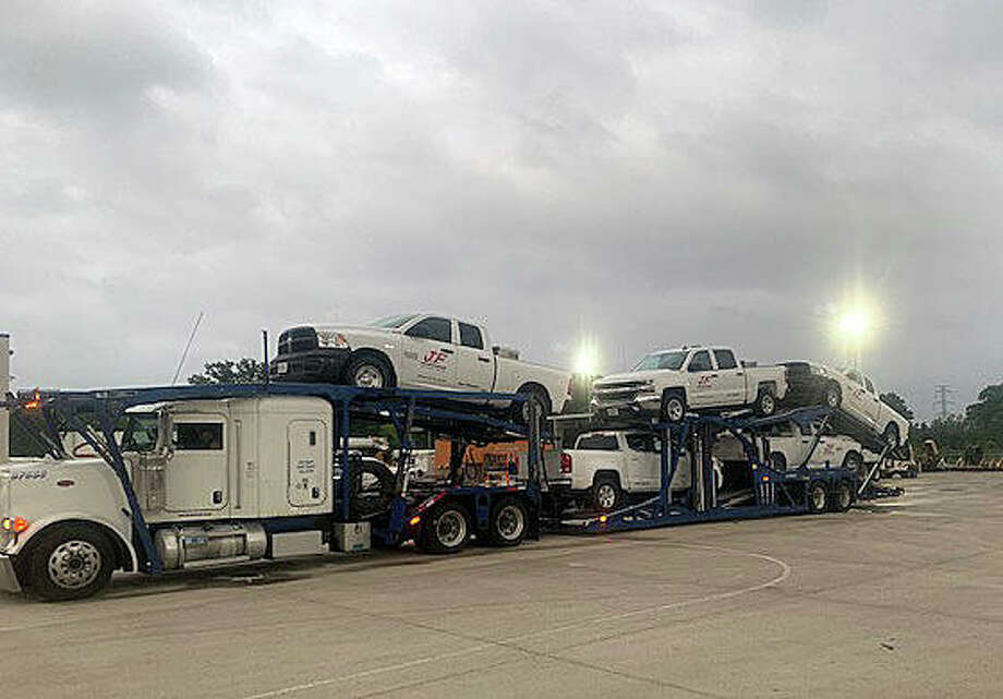 J.F. Electric transporting equipment and personnel to Oklahoma for project. Photo: For The Intelligencer
