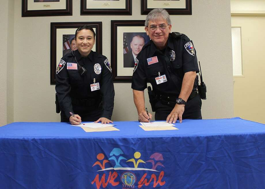Jessica Munoz and Gilbert Maldonado join United ISD's police force. Photo: Courtesy