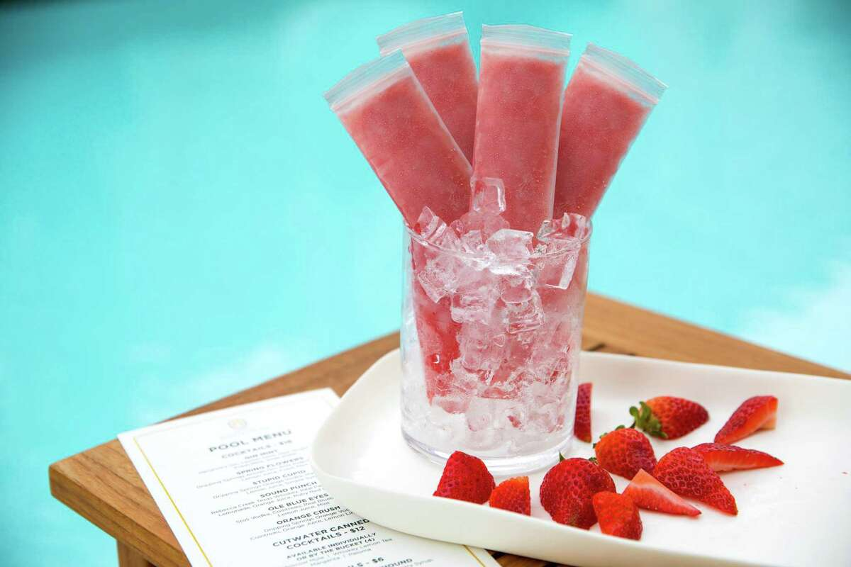 The Hotel Alessandra in downtown Houston serves boozy poptails, perfect for the hotel pool.