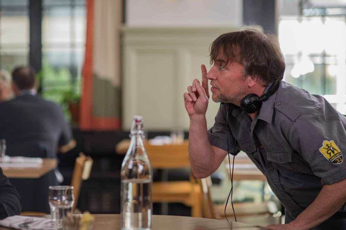 Writer/Director Richard Linklater on the set of his film WHERE'D YOU GO, BERNADETTE, an Annapurna Pictures release.