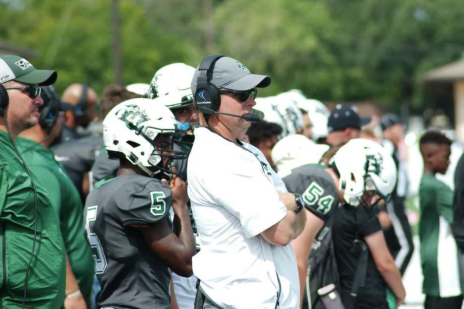 Clear Falls head football coach Zach Head likes the progress his team has made after the first week of August practices. Photo: Kirk Sides / Houston Chronicle / © 2018 Kirk Sides / Houston Chronicle