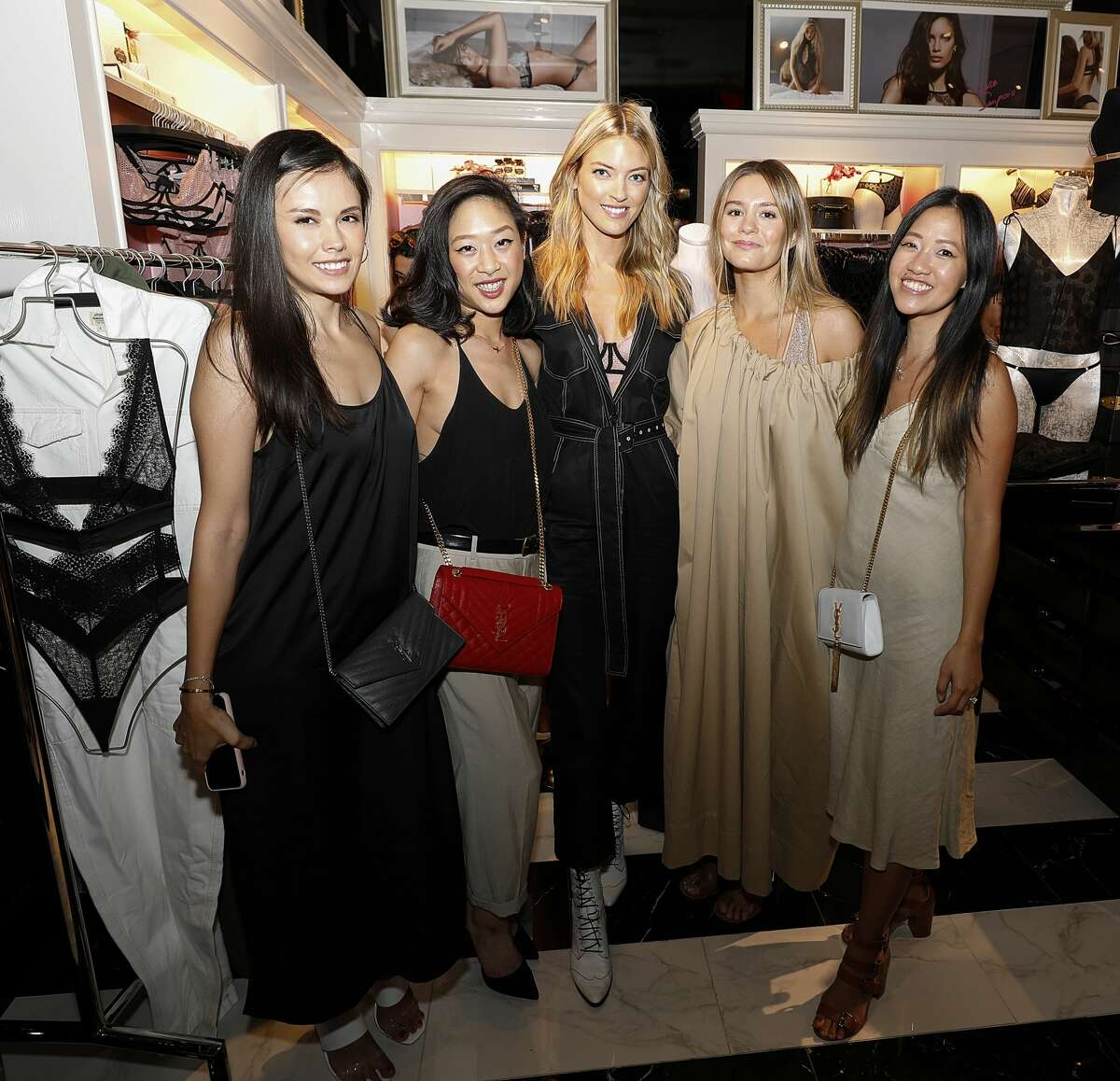 HOUSTON, TEXAS - AUGUST 08: Angel Martha Hunt and guests attend as Victoria's Secret debuts new Fall Collection. (Photo by Bob Levey/Getty Images for Victoria's Secret)