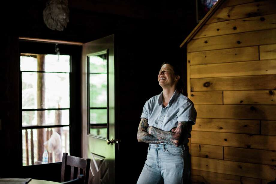 Chef Iliana Regan at the Milkweed Inn, the rustic cabin she and her wife opened in Michigan's Upper Peninsula. Photo: Photo By Kendra Stanley-Mills For The Washington Post. / For The Washington Post