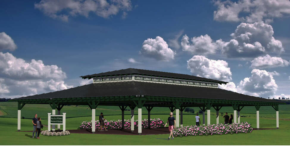 This is the rendering of the Marylou Whitney Pavilion that will be built on the backstretch next summer to accommodate meals and other events sponsored by the Backstretch Appreciation Program.