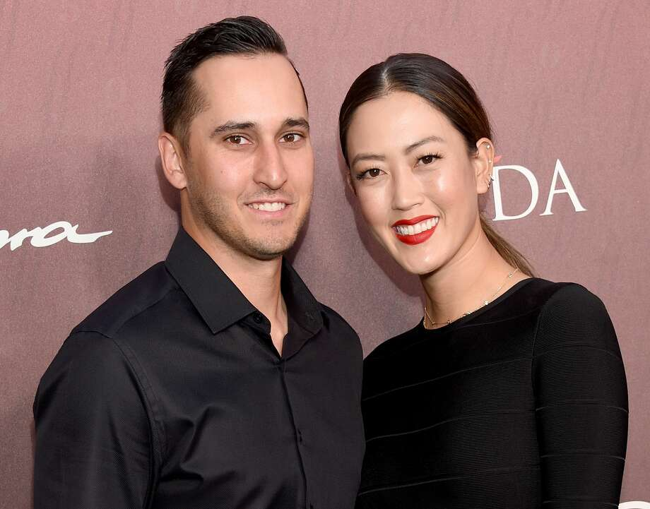 Michelle Wie and Jonnie West arrive at the Sports Illustrated Fashionable 50 at The Sunset Room on July 18, 2019 in Los Angeles. Photo: Gregg DeGuire/FilmMagic