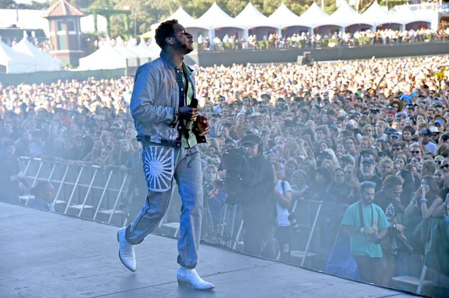 SAN FRANCISCO, CALIFORNIA - AUGUST 11: Leon Bridges performs onstage during the 2019 Outside Lands Music And Arts Festival at Golden Gate Park on August 11, 2019 in San Francisco, California. (Photo by Jeff Kravitz/FilmMagic) Photo: Jeff Kravitz/FilmMagic