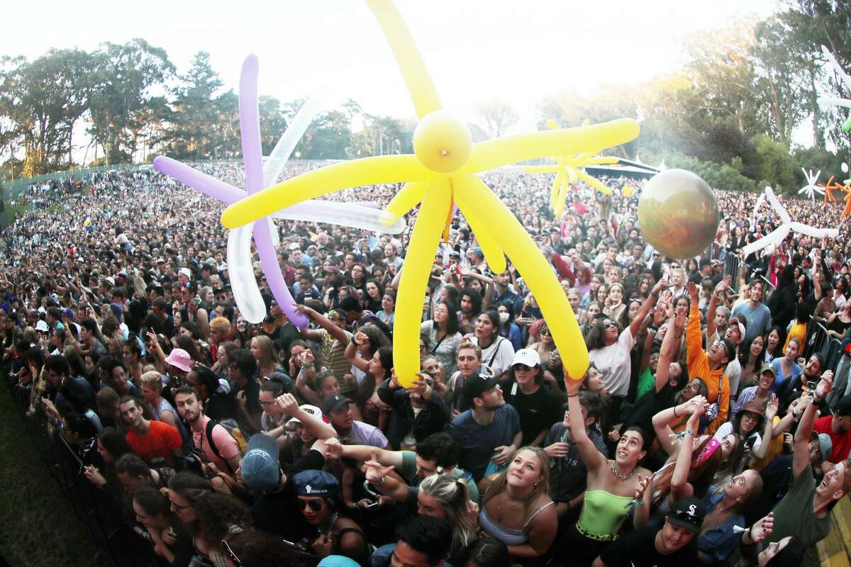 Festival goers are seen during the 2019 Outside Lands Music And Arts Festival at Golden Gate Park on August 11, 2019 in San Francisco, California.