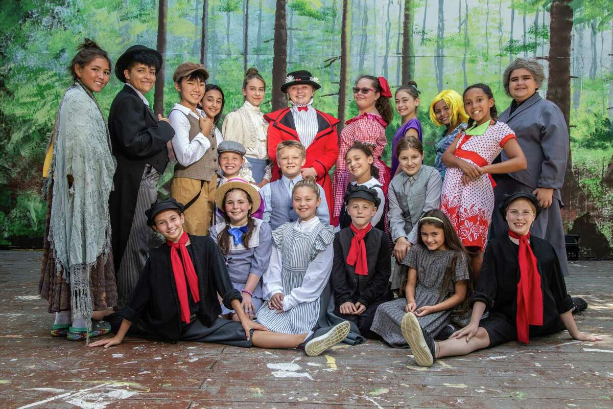 """Pictured is the full cast of """"Mary Poppins Jr.,"""" which concludes Musicals at Richter's 2019 offerings, featuring students from its Summer Youth Musical Theater Workshop."""