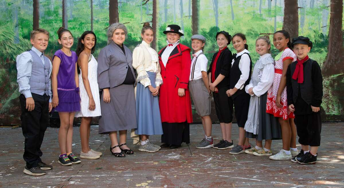 Danbury residents in the production are Dylan Robinson-D'Imperio, left, Claire Calomeni, Tatiana Frouge, Curtis Rodriguez, Morwenna Zarba, Aaliyah Frank, Isabelle Stein, Fallon Rivard, Jenna Saltzman, Olivia Scherer, Aviana Steele and Jack Scherer.