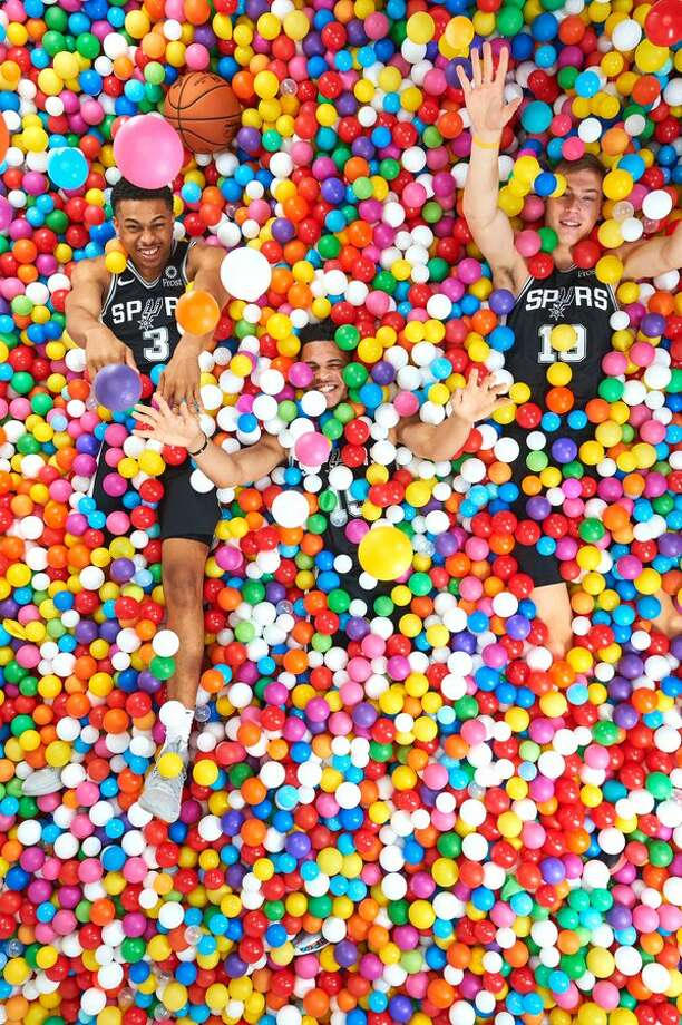 Top draft picks from different franchises gathered in New Jersey for the annual NBA Rookie Photo Shoot for Panini, the official trading card company, according to NBA.com. Fresh Spurs roster names Keldon Johnson, Luka Samanic and Quinndary Weatherspoon each got time in front of the cameras of photographers Brian Babineau and Jennifer Pottheiser. Photo: Courtesy, Spurs Sports And Entertainment