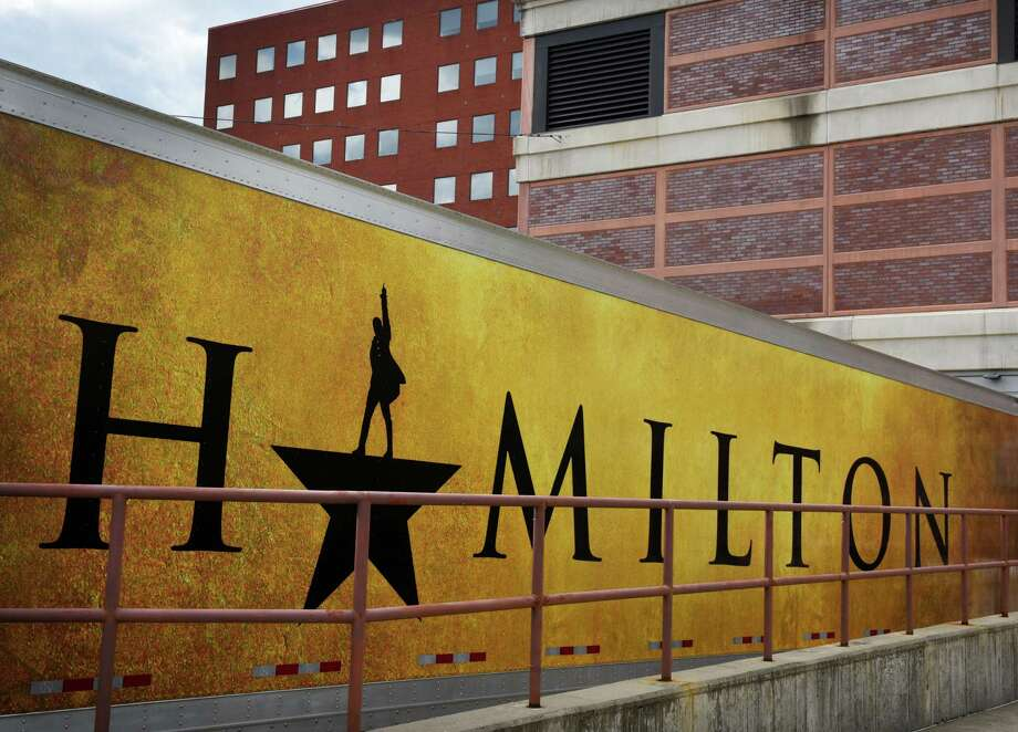 "Trucks full of stage equipment for ""Hamilton"" arrived at Proctors on Monday, Aug. 12, 2019, in Schenectady, N.Y. The show opens Tuesday. (Will Waldron/Times Union) Photo: Will Waldron, Albany Times Union / 40047621A"