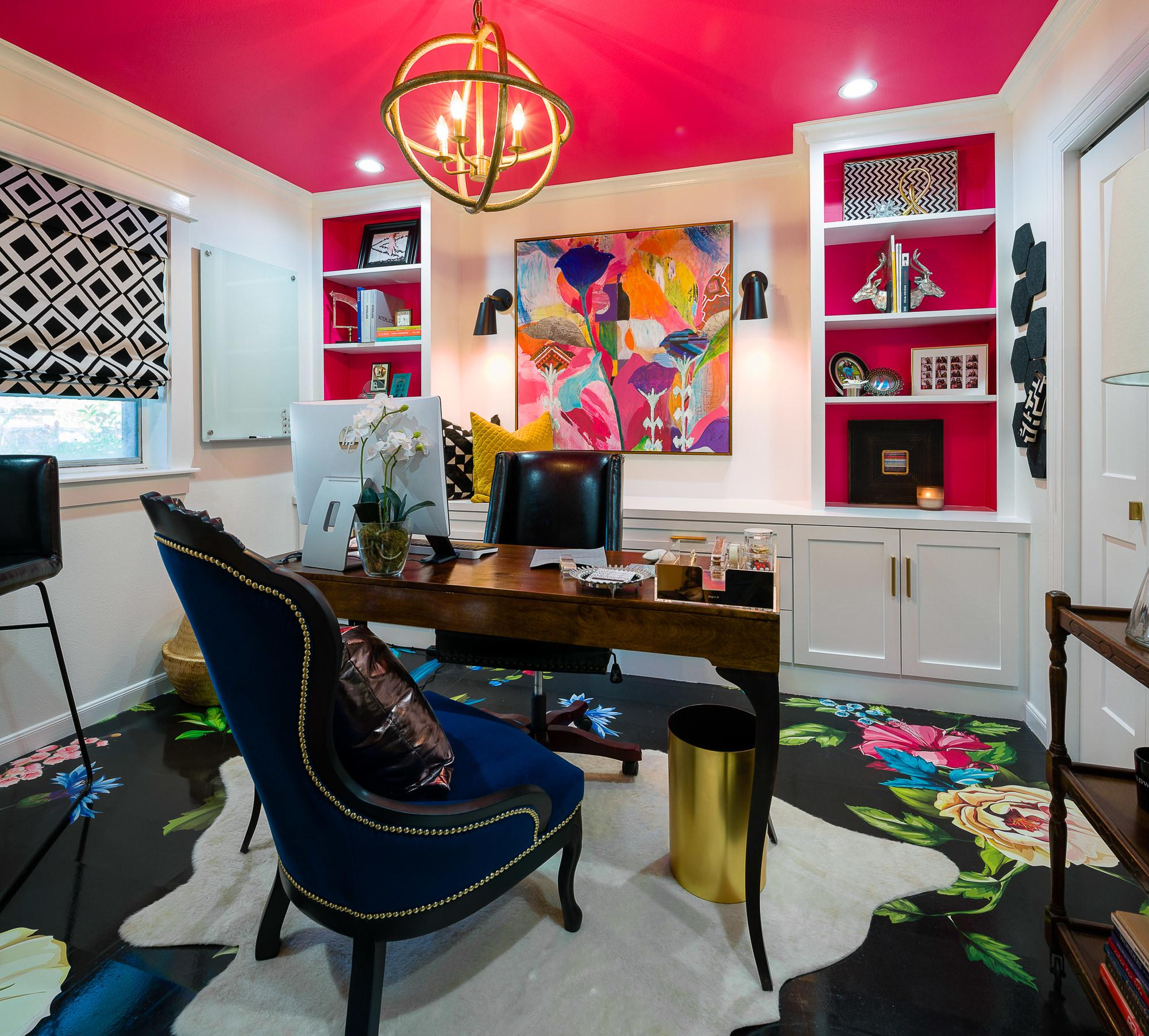 Home Office Is Interior Designer's Bold Portfolio Sample