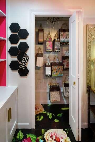 Home Office Is Interior Designer S Bold Portfolio Sample In Itself Houstonchronicle Com