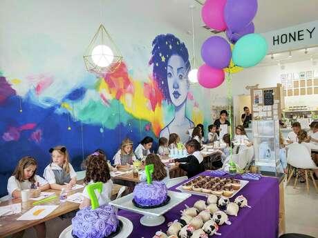 A kids' art party at Houston's Honey Art Cafe