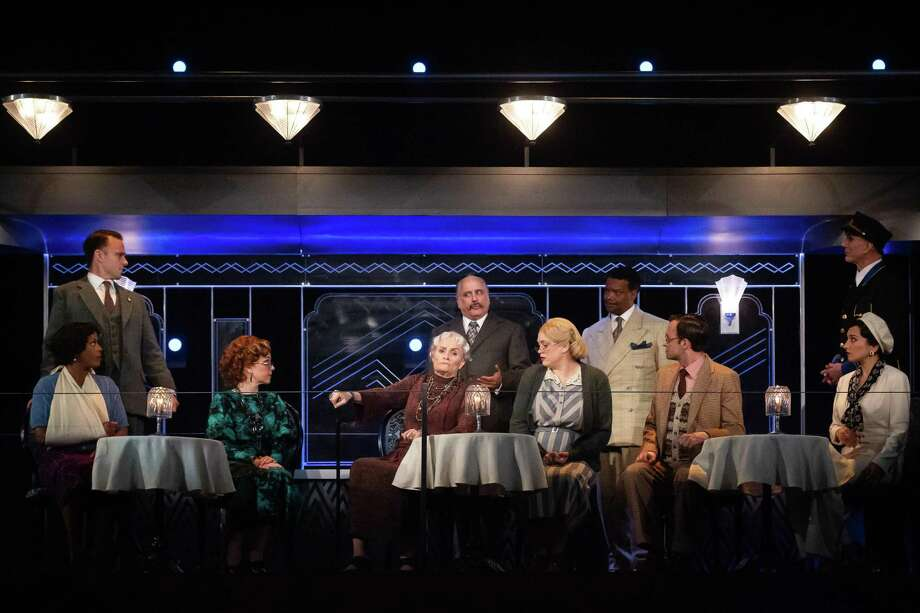 "The cast of the Alley Theatre's ""Murder on the Orient Express"" Photo: Lynn Lane"