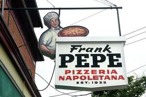 Frank Pepe Pizzeria Napoletana on Wooster Street in New Haven in 2019.