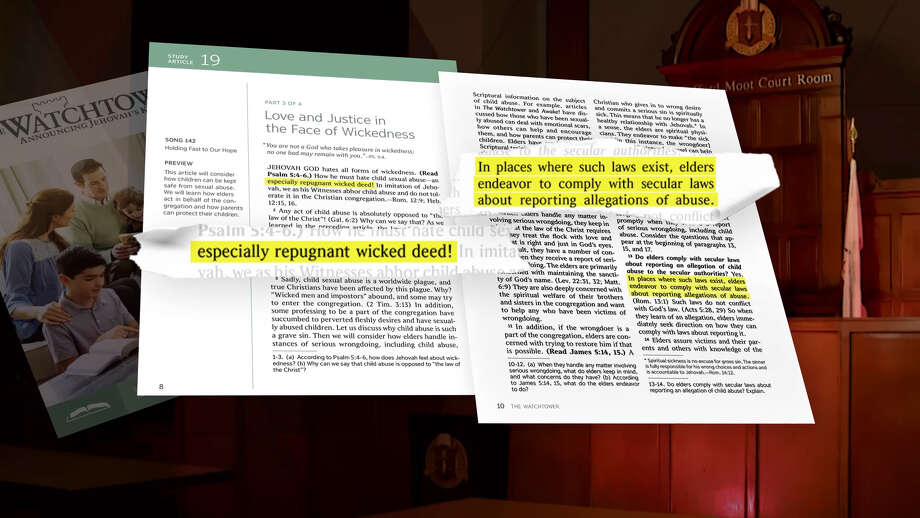 Jehovah's Witnesses literature calls child sexual abuse 'an especially repugnant wicked deed! Photo: Hearst Television