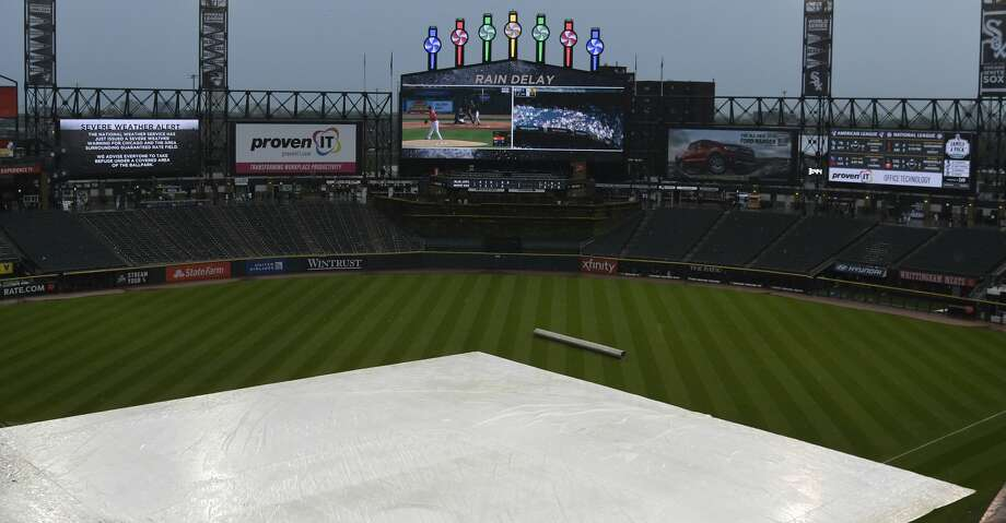 PHOTOS: Astros game-by-game A general view of a covered field in a rain delay during the fifth inning of a game between the Chicago White Sox and the Toronto Blue Jays at Guaranteed Rate Field on May 18, 2019 in Chicago, Illinois. (Photo by David Banks/Getty Images) Browse through the photos to see how the Astros have fared in each game this season. Photo: David Banks/Getty Images