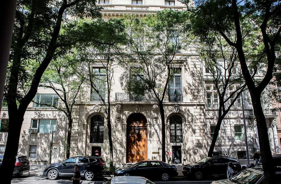 The Manhattan home of Jeffrey Epstein, who was found dead in his cell on the morning of Saturday, Aug. 10, 2019. Almost a year ago, James Stewart went to Epstein's mansion to talk about Tesla, but ended up discussing much more — including Epstein's belief that sex with teenage girls should be acceptable. (Kirsten Luce/The New York Times) Photo: Kirsten Luce, NYT