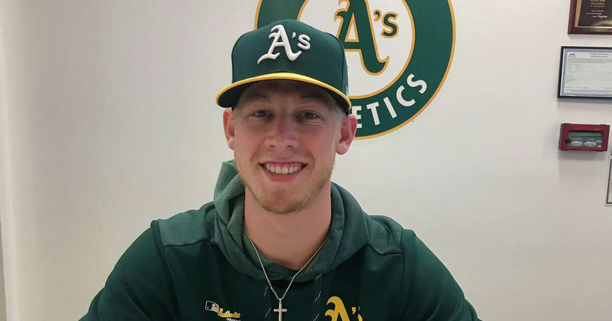Nathan Patterson signed with the A's after reaching the mid-90s in a speed-pitch challenge.