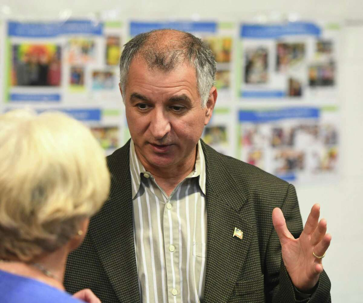 State Sen. Carlo Leone, D-Stamford, attends the Together We Stand #StamfordWelcomesImmigrants community meeting at Building One Community in Stamford, Conn. Monday, Aug. 12, 2019. In the wake of recent mass shootings in El Paso and Dayton, local immigrants shared their stories in front of representatives from the Stamford Police Department, Stamford Public Schools, City Government and Interfaith Council in a message of unity and support.