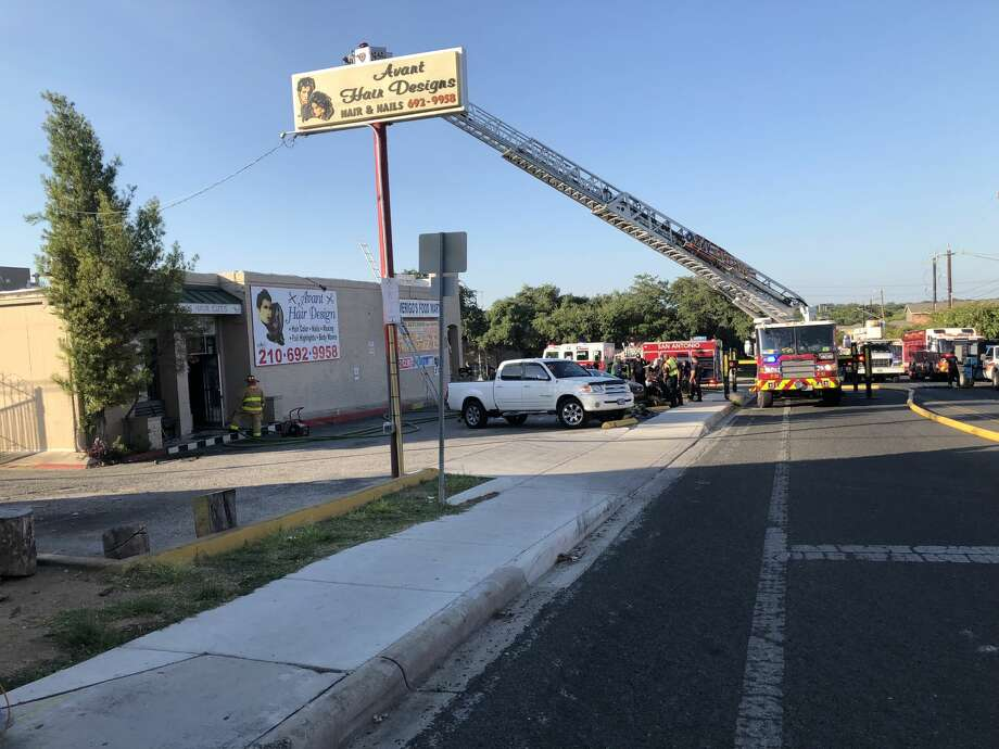 A fire erupted in small shopping center in the 4100 block of Gardendale Road. Photo: Peggy O'Hare
