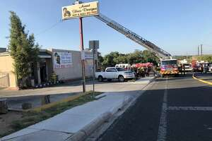 A fire erupted in small shopping center in the 4100 block of Gardendale Road.