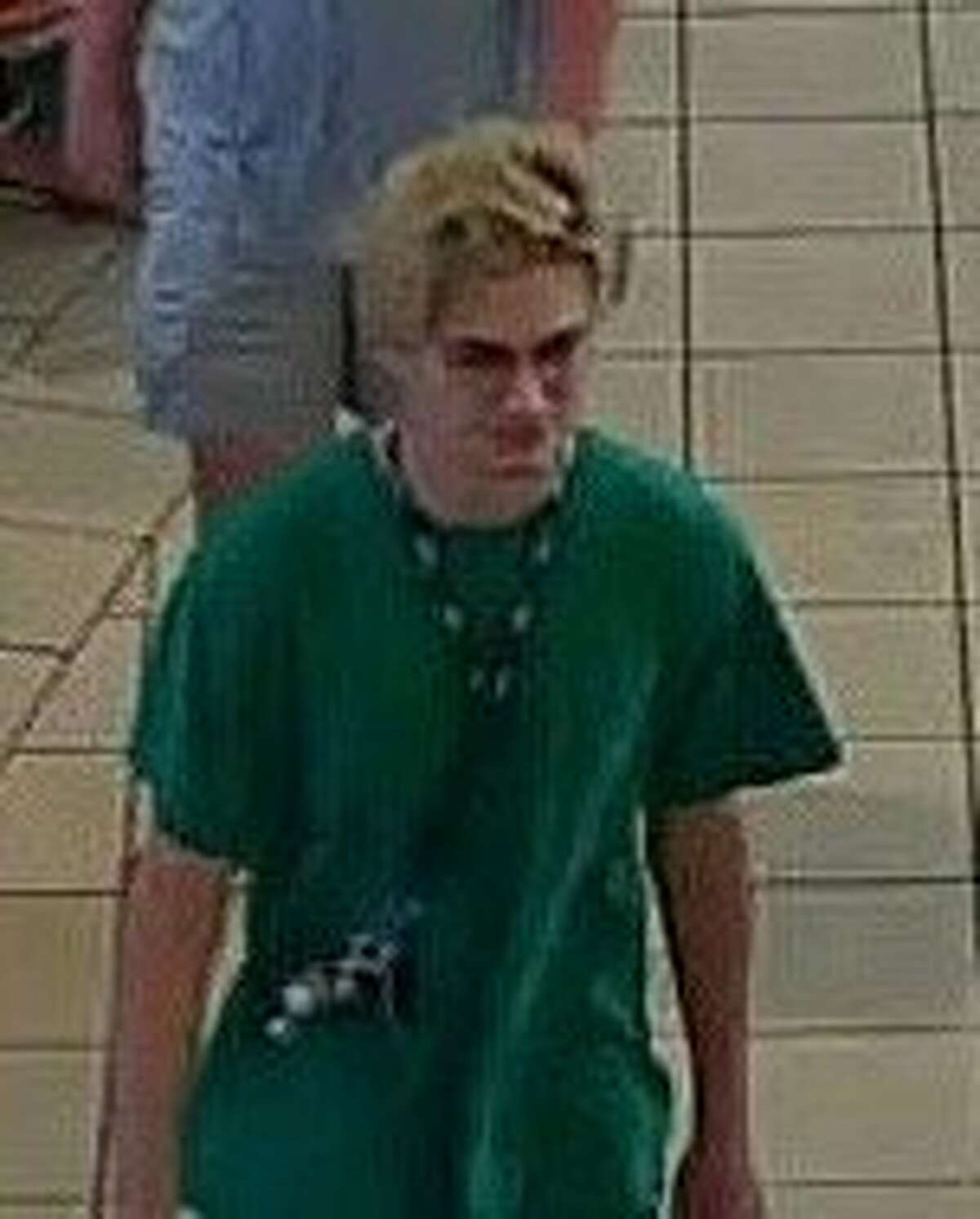 Police released this image Monday of a person of interest related to the panic at Memorial City Mall over the weekend.