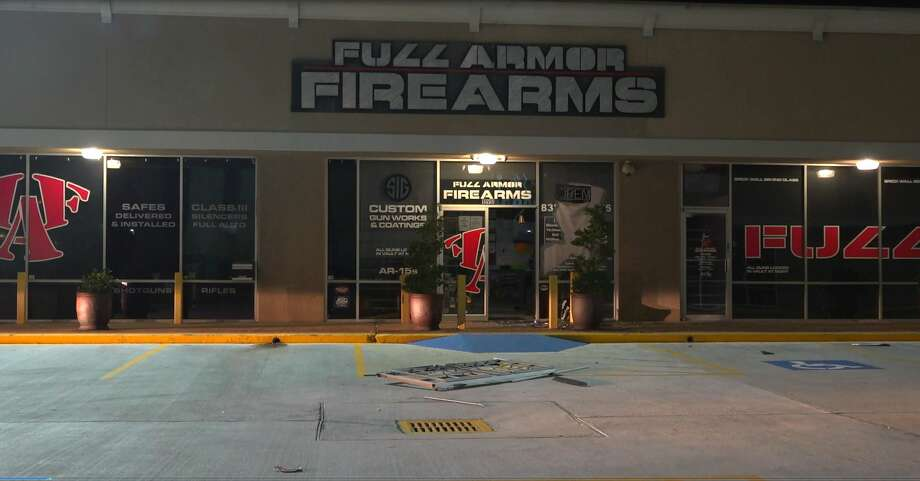 Police responded to a reported burglary at the gun store at the 11900 block of Katy Freeway Tuesday morning around 2:40 a.m.  Photo: OnScene.TV