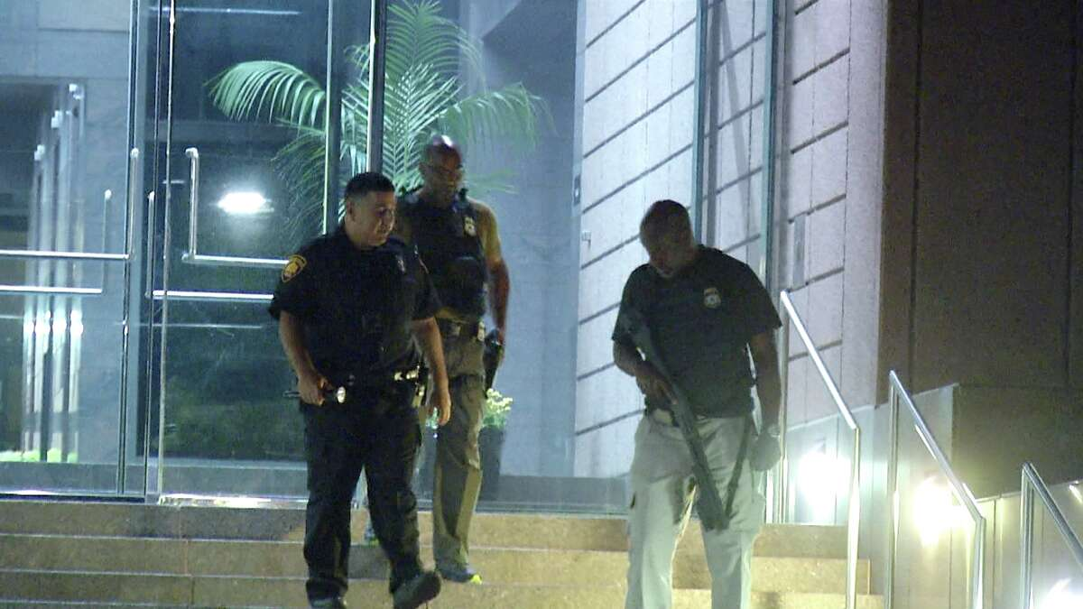 San Antonio police are investigating an overnight shooting that left windows shattered at a government agency office on the city's Northeast Side, authorities said.