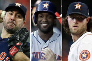 The Astros' Yordan Alvarez, Justin Verlander and Gerrit Cole will all be in the running for some big-time Major League Baseball awards at the end of the season.