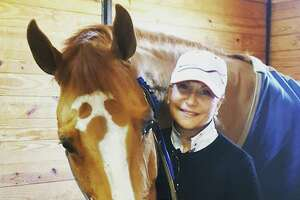 Flavia Callari, a founding member and business manager of the Ox Ridge Riding & Racquet Club. She will be giving the Ox Ridge horse tour on Aug. 24.