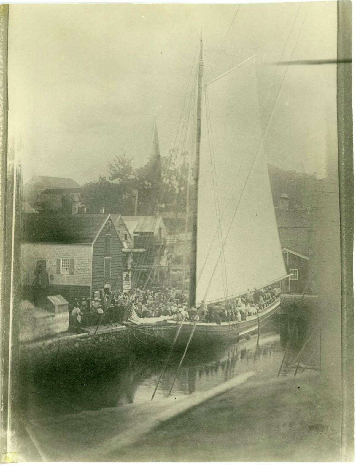 This circa 1850 photograph of the merchant sloop