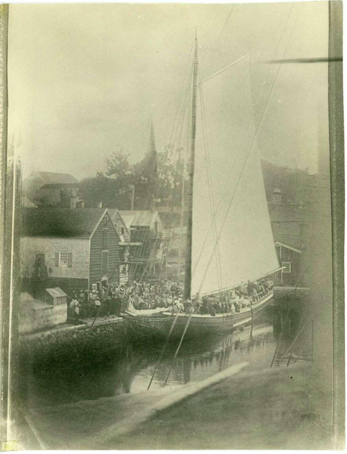 This circa 1850 photograph of the merchant sloop