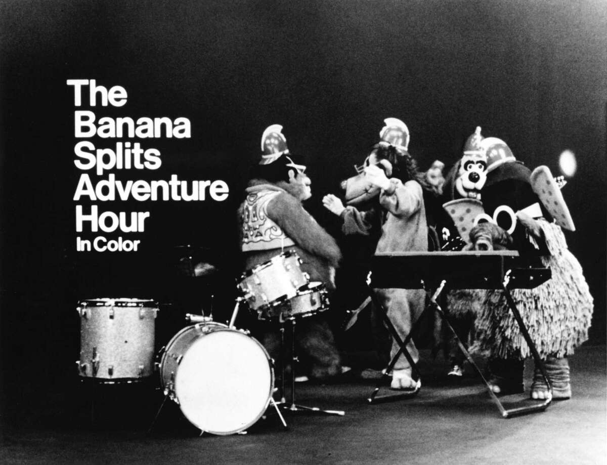 The Banana Splits - Bingo, Fleegle, Drooper and Snork - pose for a publicity photo circa 1969.