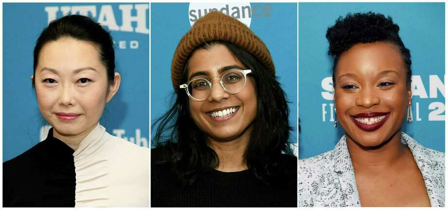"""Directors, from left, Lulu Wang at the premiere of her film """"The Farewell"""" during the Sundance Film Festival on Jan. 25, 2019, Minhal Baig at the premiere of her film """"Hala"""" during the Sundance Film Festival on Jan. 26, 2019 and Chinonye Chukwu at the premiere of her film """"Clemency"""" at the Sundance Film Festival. Photo: Compilation Photo / AP / AP"""