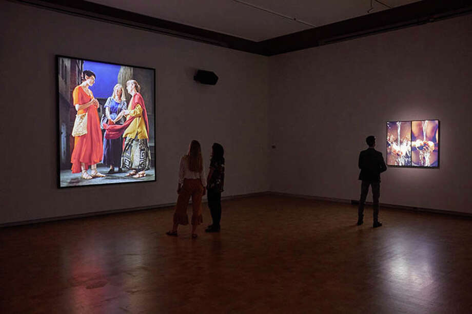 """""""I Do Not Know What It Is I Am Like: The Art of Bill Viola,"""" at the Barnes Collection in Philadelphia. Photo: Handout Photo By Sean Murray/The Barnes Foundation / Handout"""
