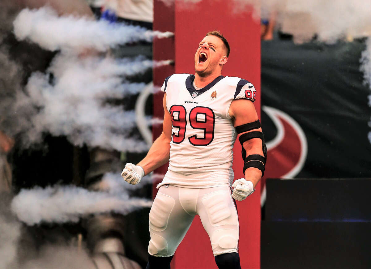 Houston Texans Defensive End J.J. Watt Claim to fame: Originally from Wisconsin, this Texan was drafted in 2011 and became the NFL Defensive Player of the Year multiple times. He has raised millions through his charitable organizations, including about $37 million for Harvey victims.