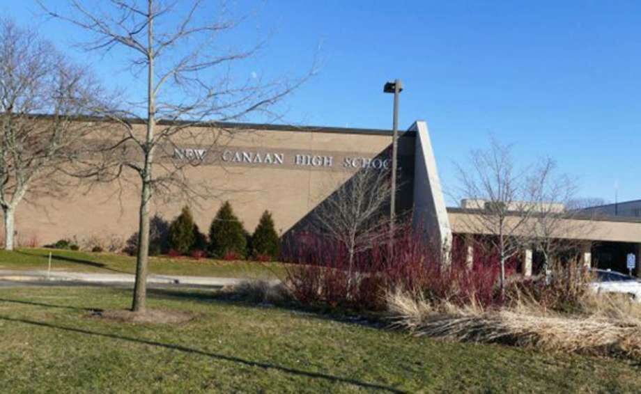 New Canaan High School in New Canaan, Connecticut. Photo: Grace Duffield / Hearst Connecticut Media
