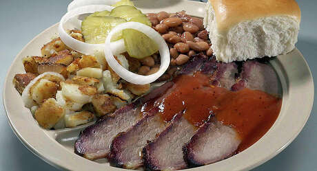 Combo plate from Bill Miller Bar-B-Q